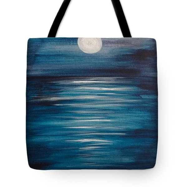 Peaceful Moon At Sea Tote Bag