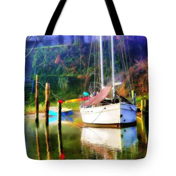 Tote Bag featuring the photograph Peaceful Morning In The Cove by Brian Wallace