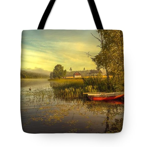 Tote Bag featuring the photograph Peaceful Morning by Rose-Maries Pictures