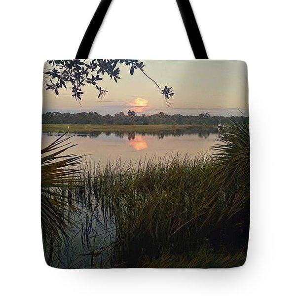 Peaceful Palmettos Tote Bag