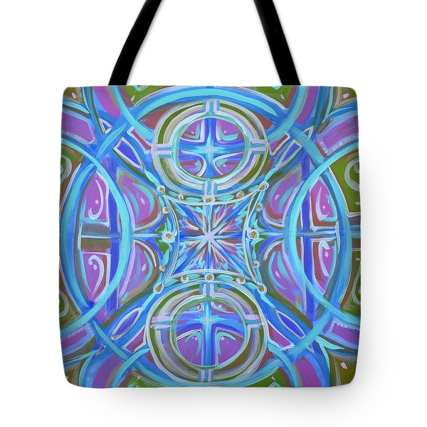 Tote Bag featuring the painting Peaceful Patience by Jeanette Jarmon