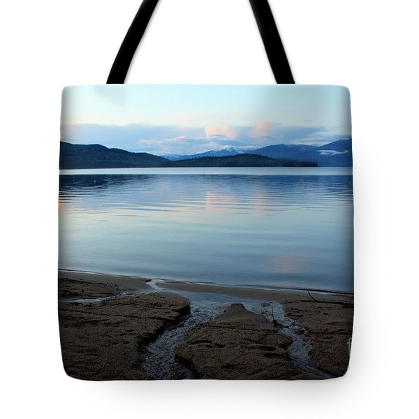 Peaceful Priest Lake Tote Bag by Carol Groenen