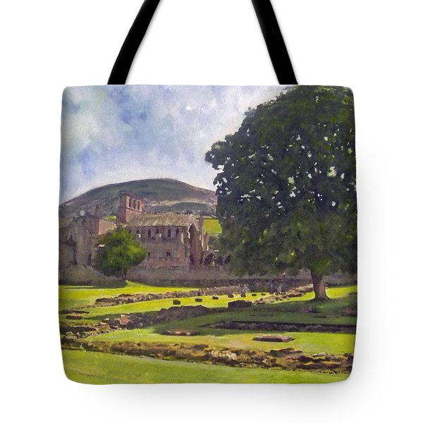 Peaceful Retreat - Melrose Abbey  Tote Bag