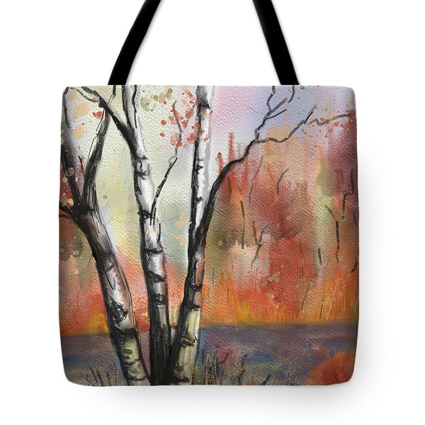 Peaceful River Tote Bag by Annette Berglund