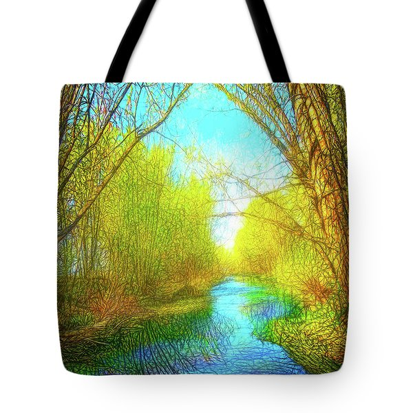 Peaceful River Spirit Tote Bag by Joel Bruce Wallach