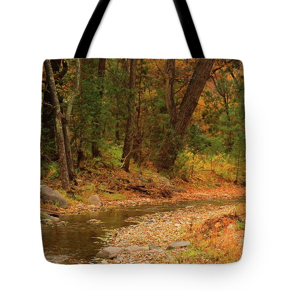 Peaceful Stream Tote Bag by Roena King