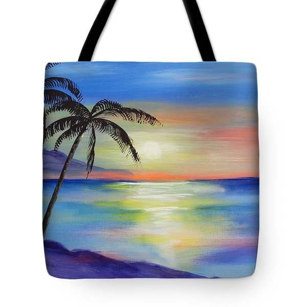 Peaceful Sunset Tote Bag by Luis F Rodriguez