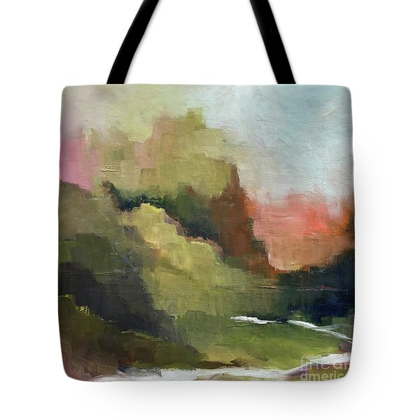 Tote Bag featuring the painting Peaceful Valley by Michelle Abrams