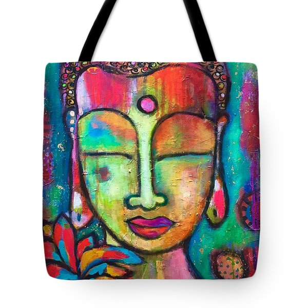 Peaceful Warrior  Tote Bag