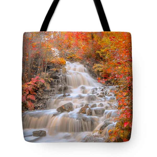 Tote Bag featuring the photograph Peaceful Waterfall by Rose-Maries Pictures
