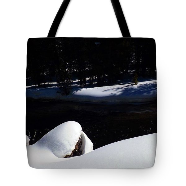 Peaceful Winter Scene Tote Bag