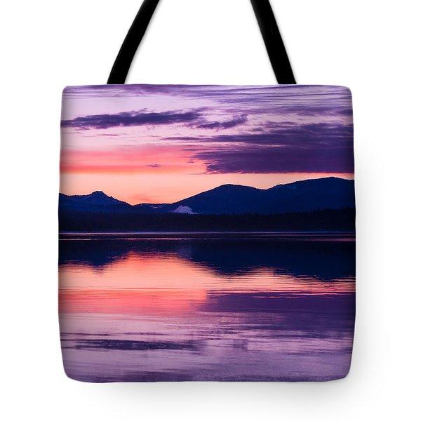 Peach And Lavender Tote Bag