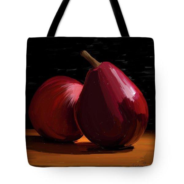 Peach And Pear 01 Tote Bag by Wally Hampton