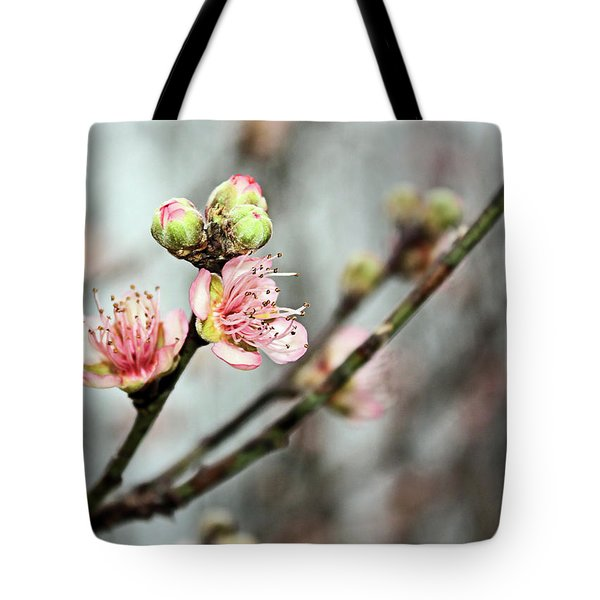 Tote Bag featuring the photograph Peach Blossom by Kristin Elmquist