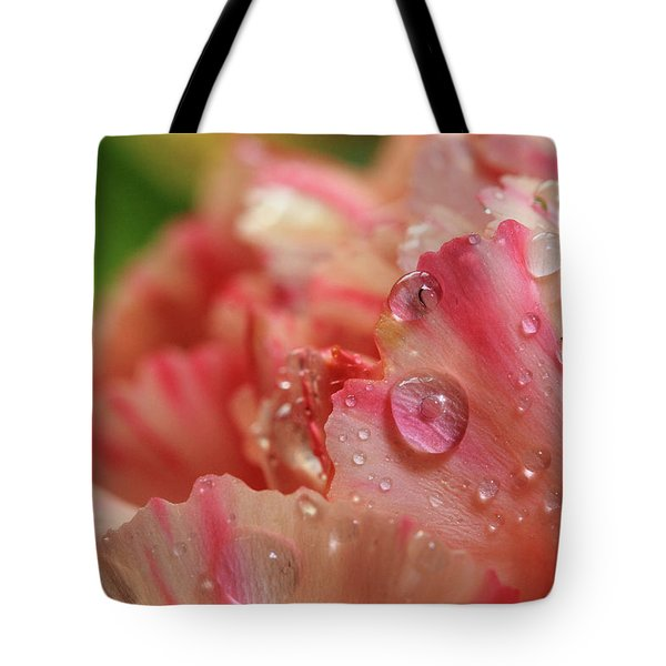 Peach And Pink Carnation Petals Tote Bag
