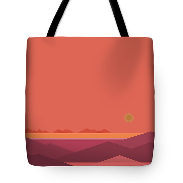 Tote Bag featuring the digital art Peach Dawn by Val Arie
