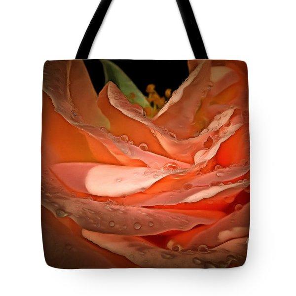 Peach Diamonds Tote Bag