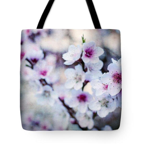 Peach Flowers Tote Bag by Laura Melis