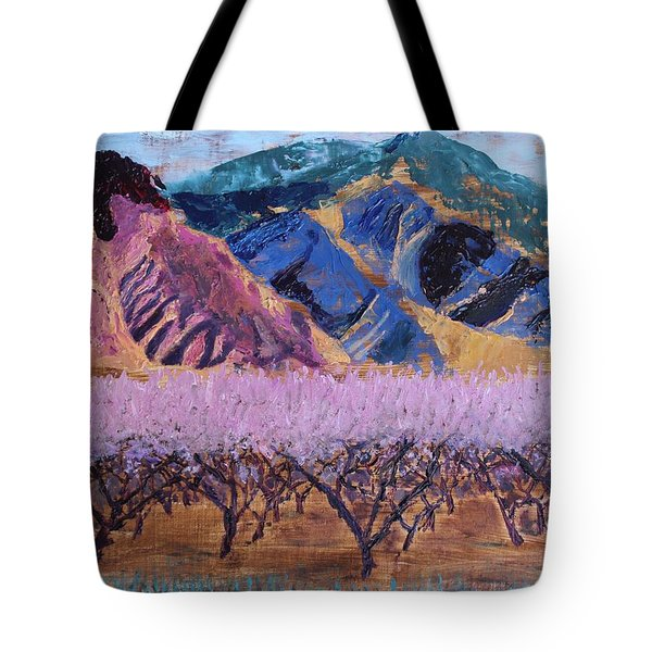 Peach Orchard Canigou Tote Bag