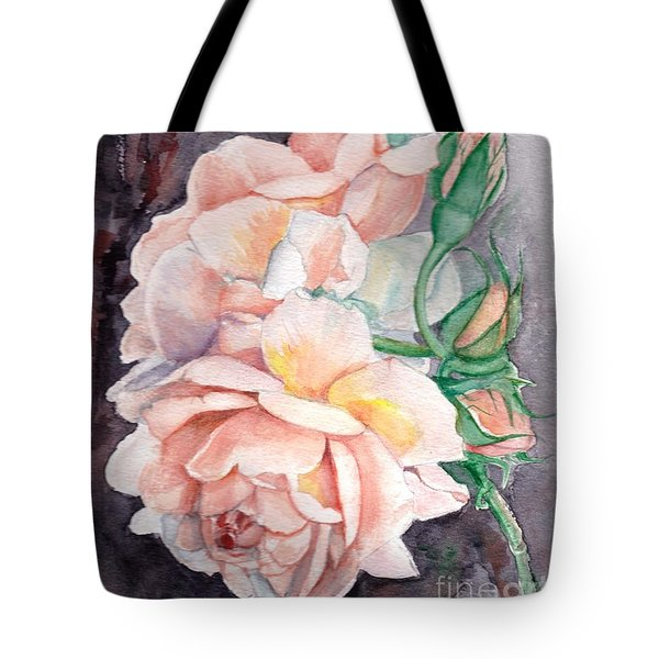Peach Perfect - Painting Tote Bag by Veronica Rickard
