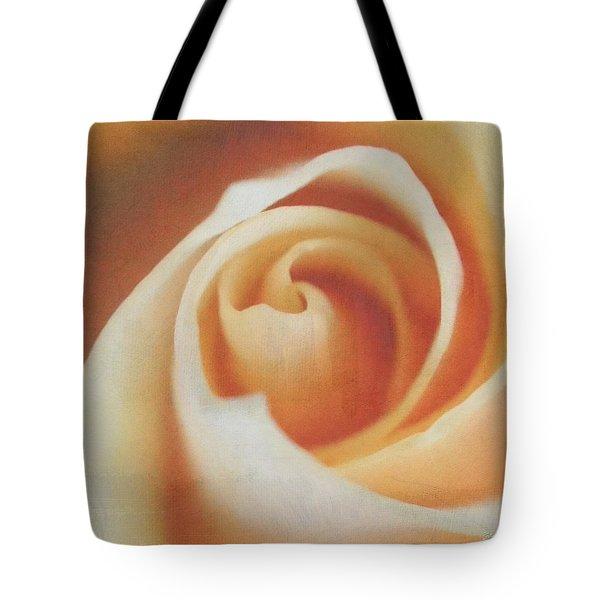 Peach Swirl Squared Tote Bag