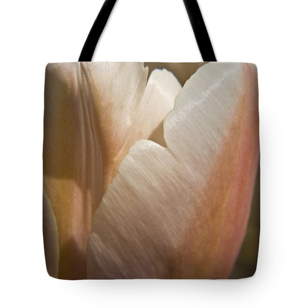 Peach Tulip Tote Bag by Teresa Mucha
