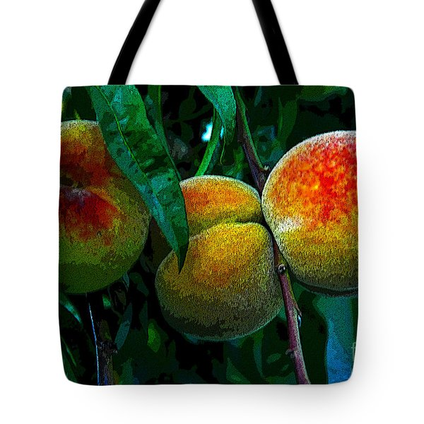 Peaches Tote Bag by David Lee Thompson