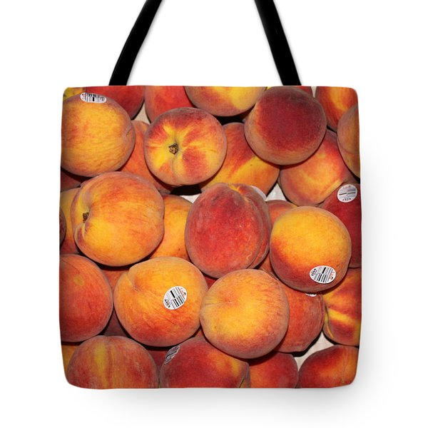 Peaches Tote Bag by Lauri Novak