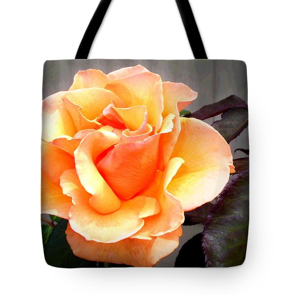 Peaches N' Cream Tote Bag by Joyce Dickens