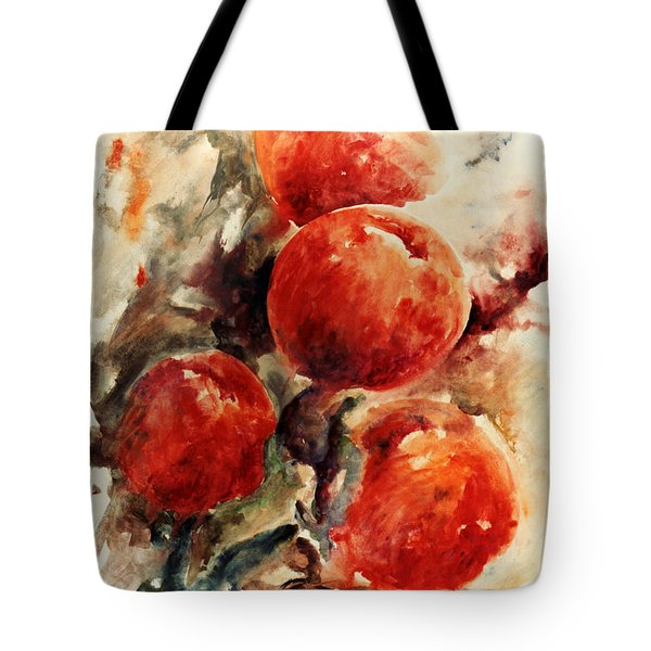 Peaches Tote Bag by Rachel Christine Nowicki