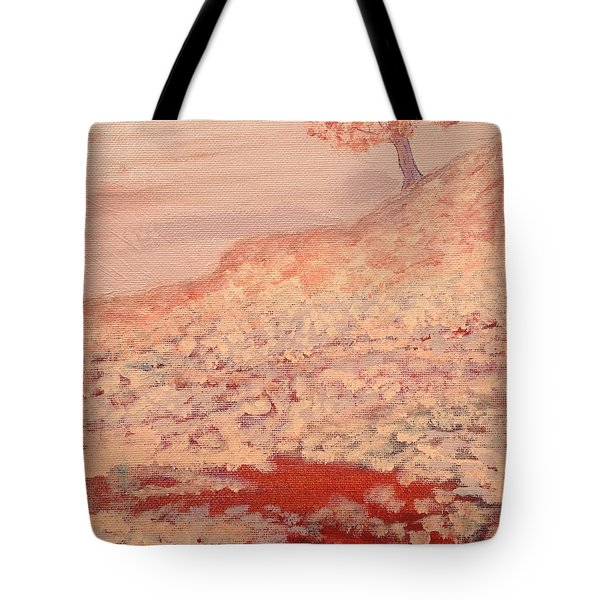 Peachy Day Tote Bag