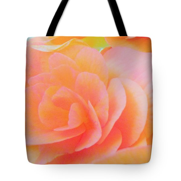 Peachy Perfection Tote Bag