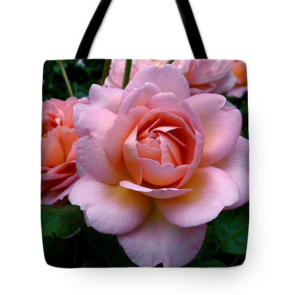 Peachy Pink Tote Bag by Rona Black