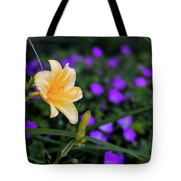 Peachy Purple Tote Bag