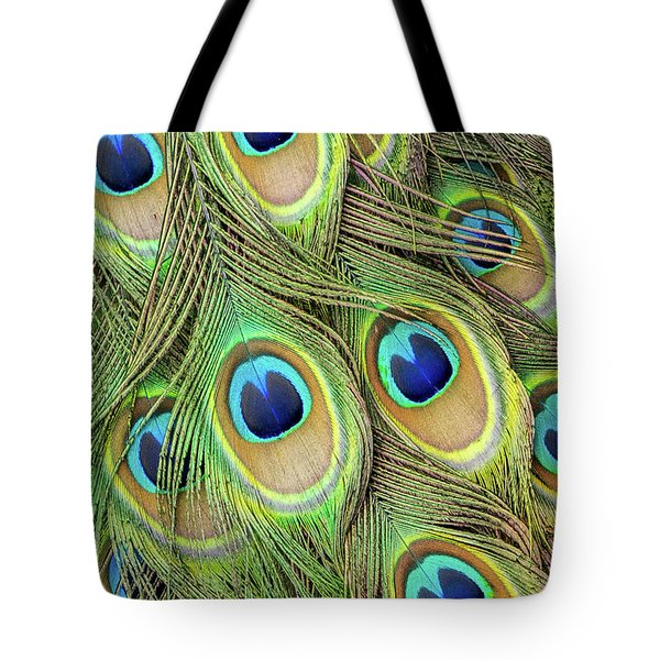 Living Peacock Abstract Tote Bag