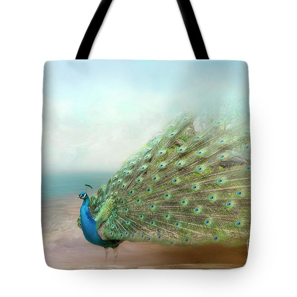 Peacock Beauty Tote Bag