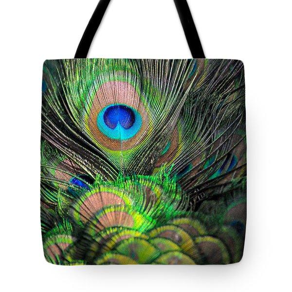 Peacock Brilliance Tote Bag by Emilia Brasier