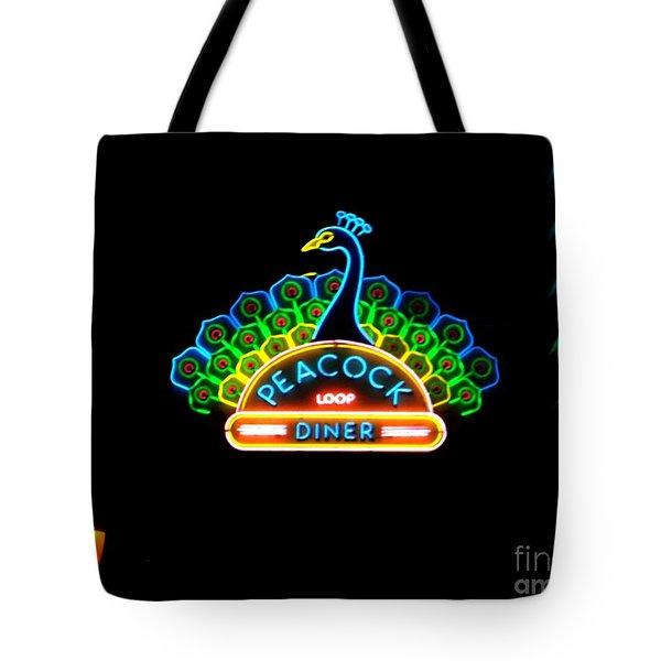 Peacock Diner In The Loop Tote Bag