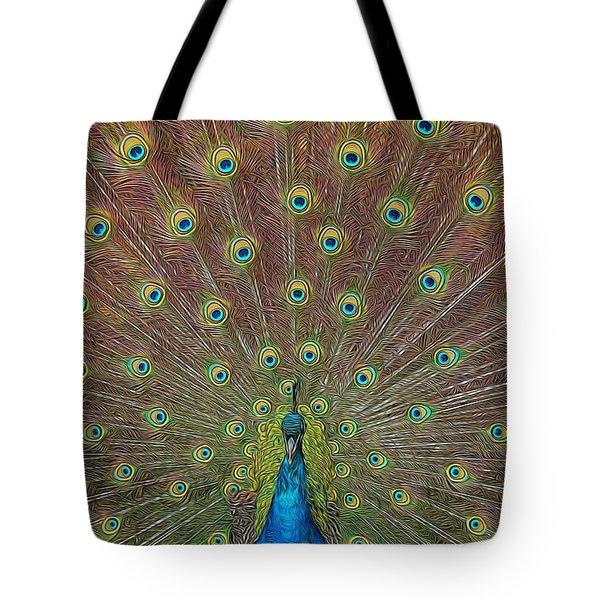 Peacock Fanfare Tote Bag