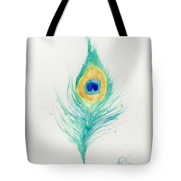 Peacock Feather 2 Tote Bag by Oddball Art Co by Lizzy Love