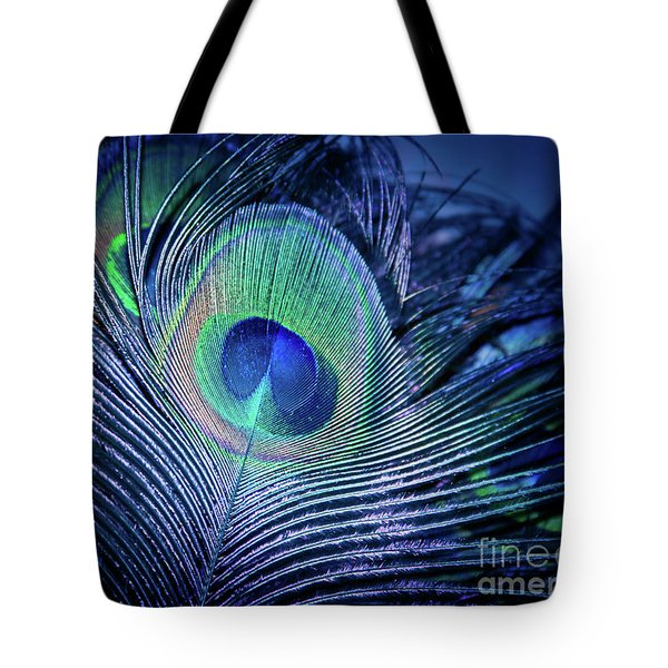 Tote Bag featuring the photograph Peacock Feather Blush by Sharon Mau