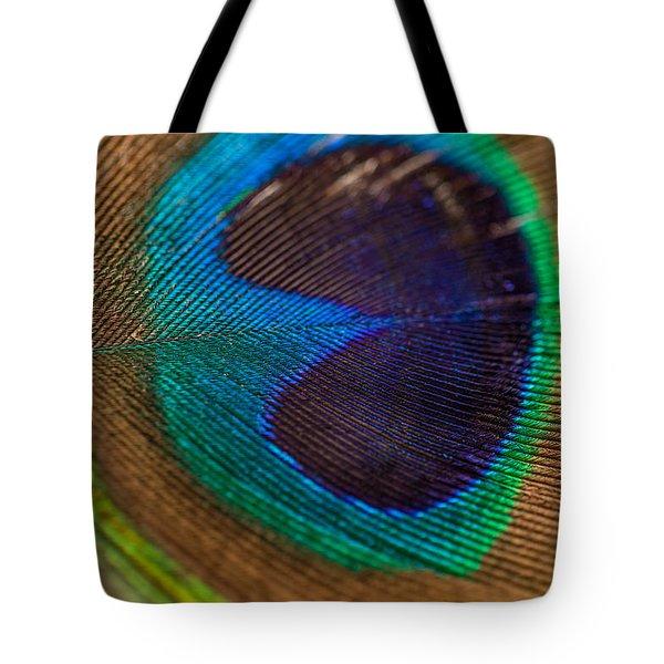 Peacock Feather Macro Detail Tote Bag
