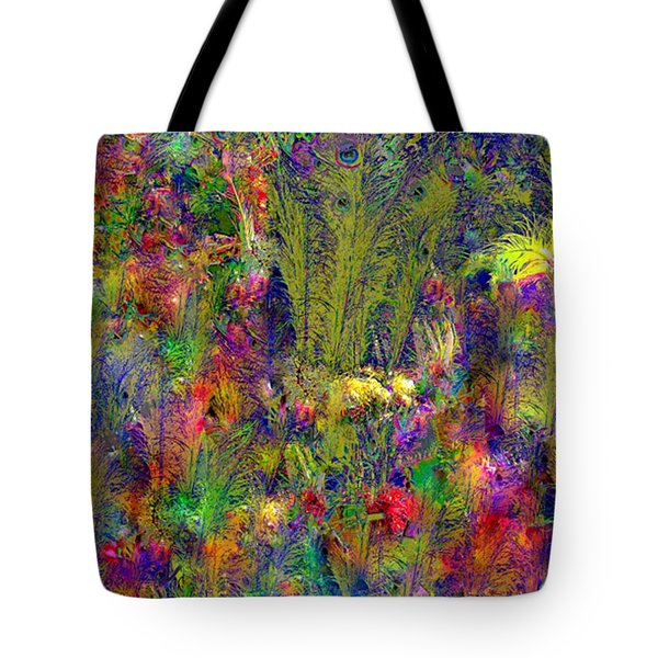 Tote Bag featuring the photograph Peacock Feathers by EDi by Darlene