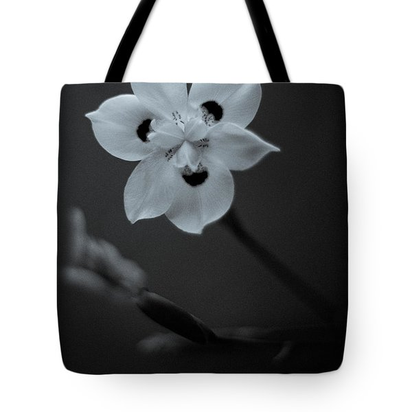 Peacock Flower - Iris - Three Tote Bag