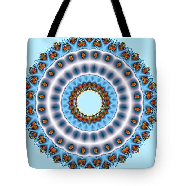Peacock Fractal Mandala I Tote Bag