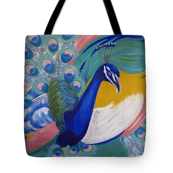 Peacock Glory Tote Bag