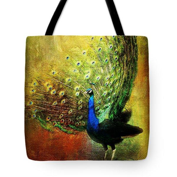 Peacock In Full Color Tote Bag