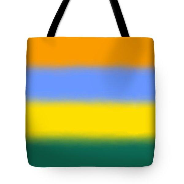 Peacock Inspired - Sq Block Tote Bag