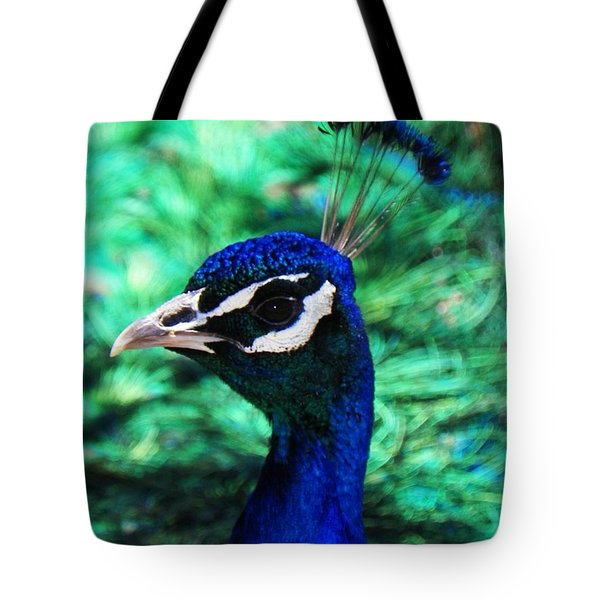 Tote Bag featuring the photograph Peacock by Joseph Frank Baraba