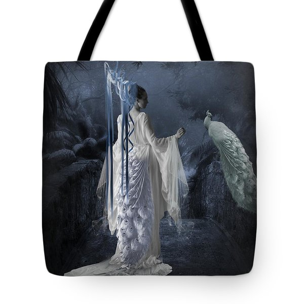 Peacock Lady Tote Bag